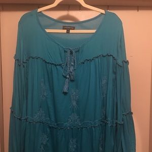 Gypsy turquoise Blouse